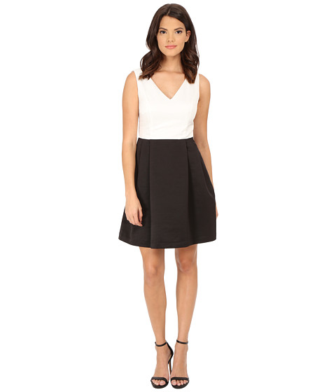 Jessica Simpson - Color Block Fit and Flare (Ivory) Women's Dress