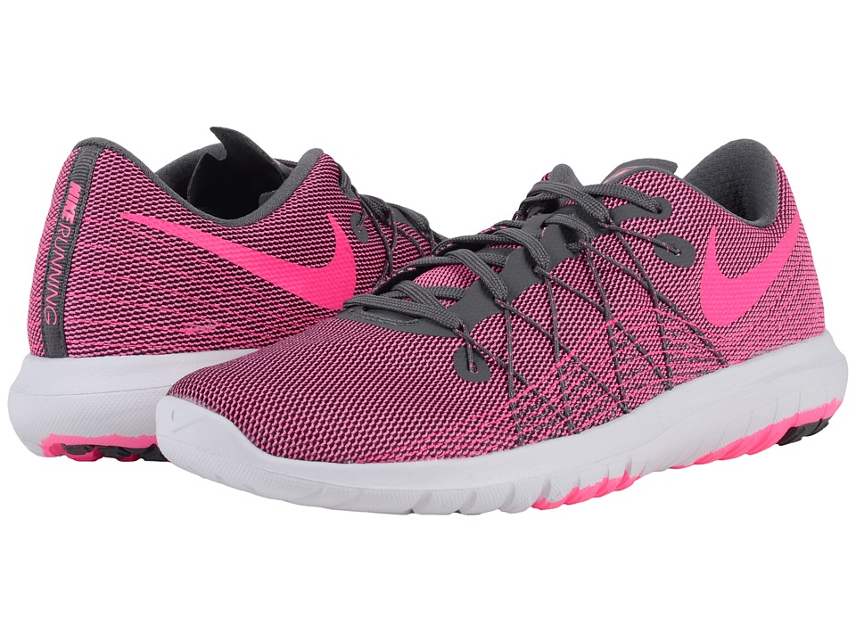Nike - Flex Fury 2 (Dark Grey/White/Pink Blast) Women's Running Shoes