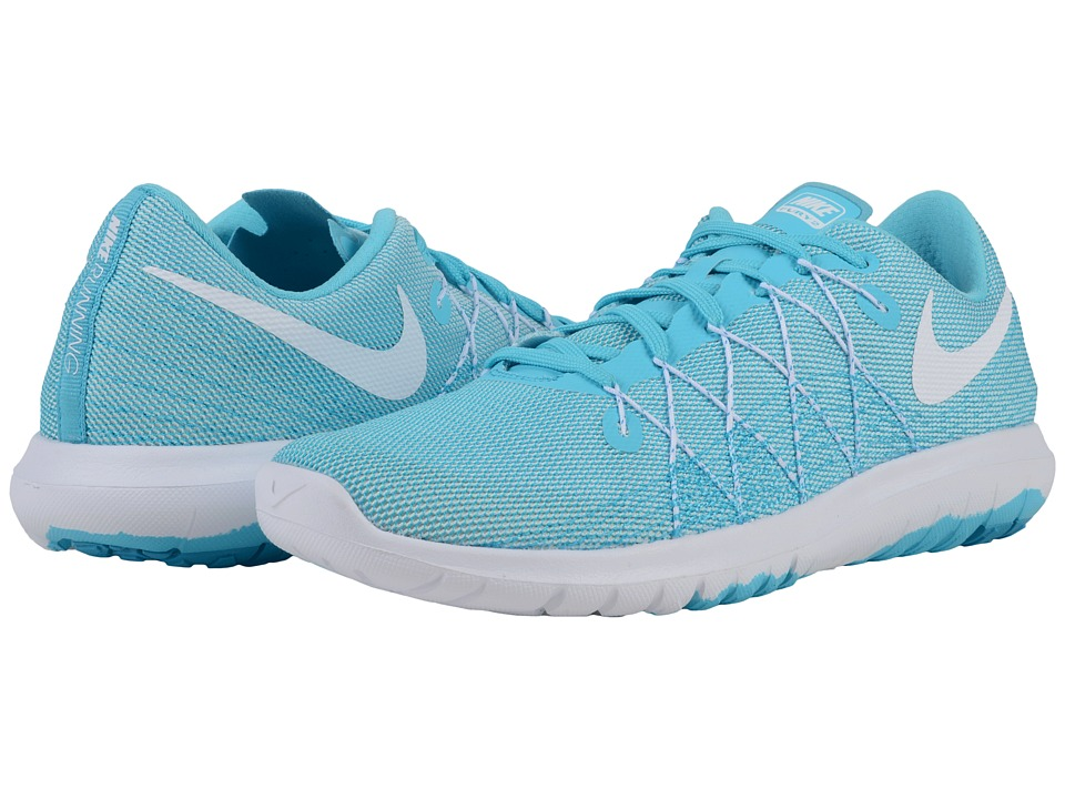 Nike - Flex Fury 2 (White/Blue Lagoon/Gamma Blue) Women's Running Shoes