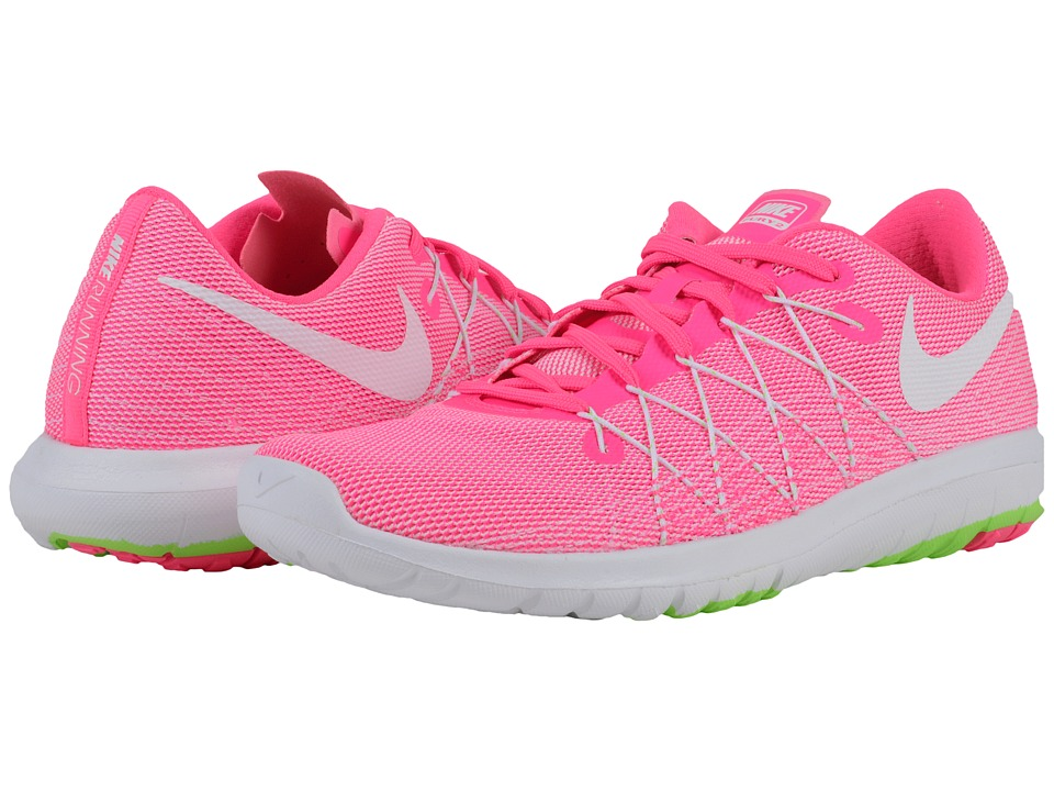 Nike - Flex Fury 2 (Pink Blast/Electric Green/White) Women's Running Shoes