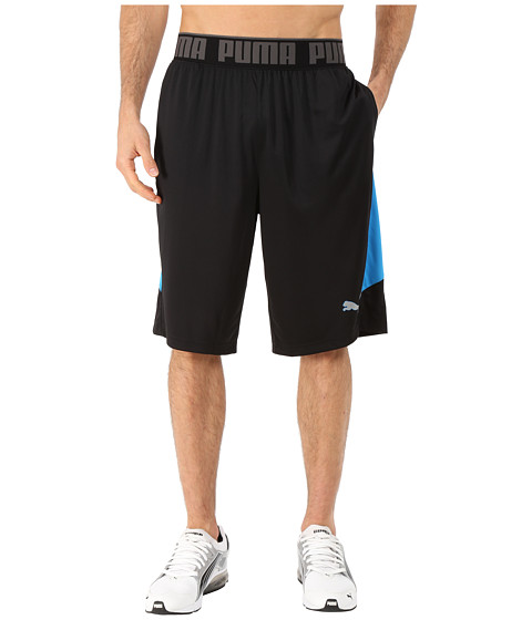 PUMA - 12 Mixed State Shorts II (Black/Cloisonne) Men