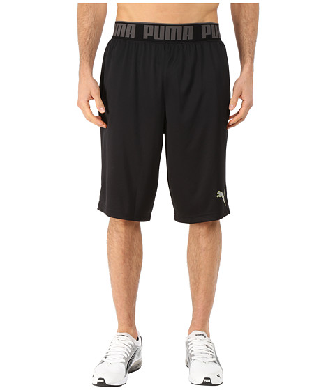 PUMA - 12 Mixed State Shorts II (Black/Sulphur Spring) Men
