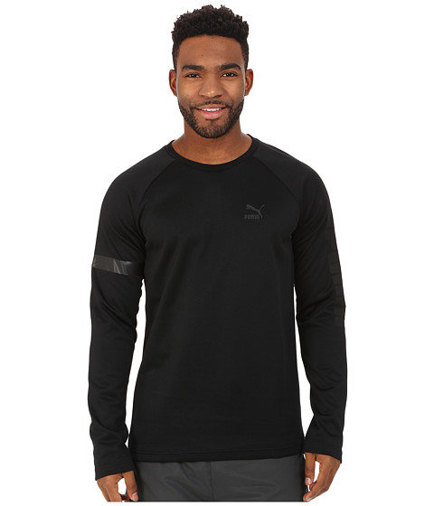 PUMA - Bonded Long Sleeve Tee (Black) Men's T Shirt