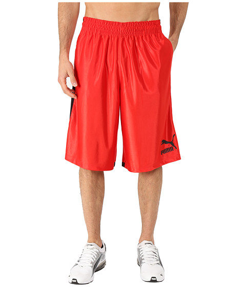 PUMA - 12 Hoops Shorts (Puma Red/Black) Men's Shorts