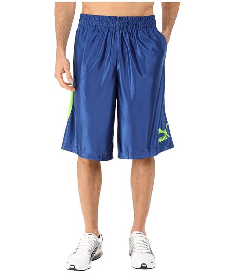 PUMA - 12 Hoops Shorts (Limoges/Jasmine Green) Men's Shorts