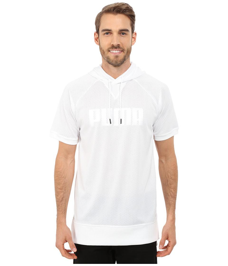 PUMA - Mesh Hoodie (White) Men's Sweatshirt