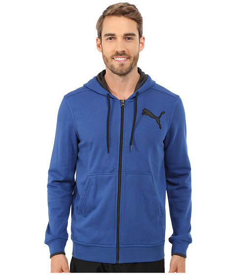 PUMA - Full Zip Hooded Jacket (Limoges) Men's Sweatshirt