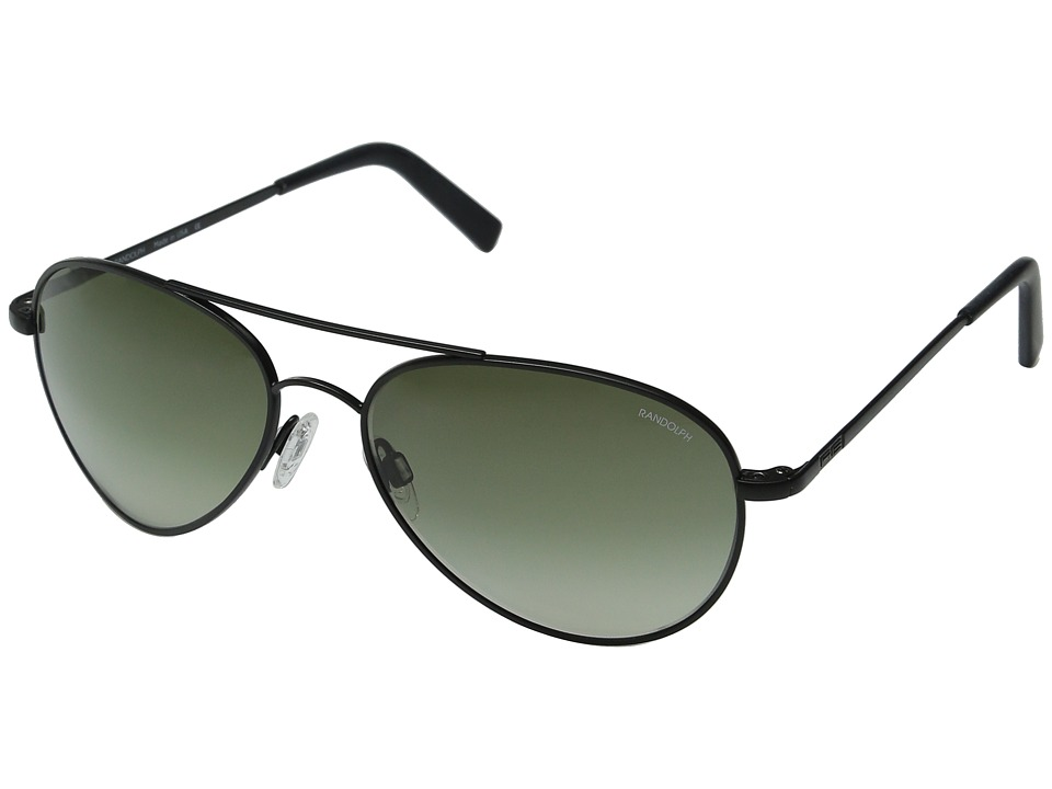 Randolph - Coronado 57mm (Matte Black/Green Gradient Nylon Lens) Fashion Sunglasses