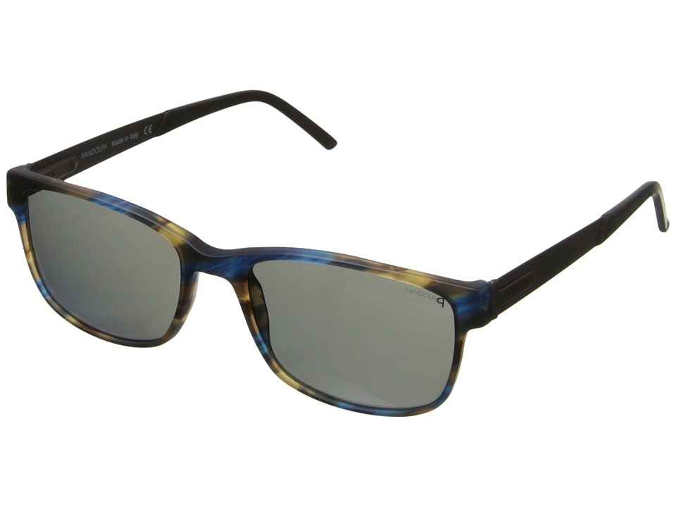 Randolph - Charleston 56mm Polarized (Matte Brown/Blue Yellow Tortoise/Gray Polarized PC) Fashion Sunglasses