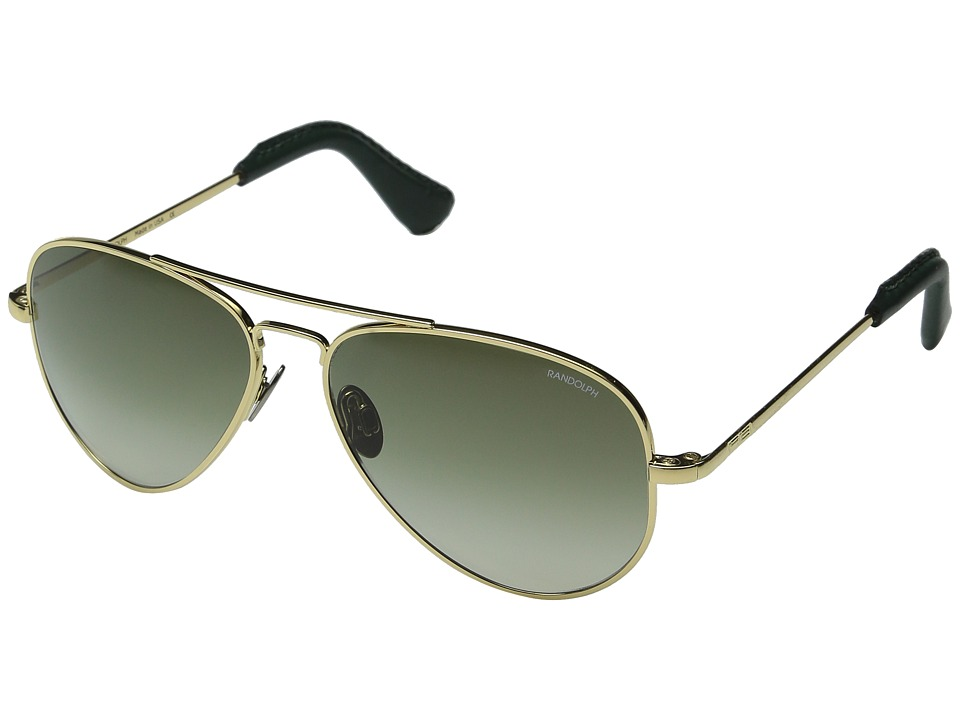 Randolph - Concorde 57mm (23K Gold Plated/Green Gradient Nylon Lens) Fashion Sunglasses