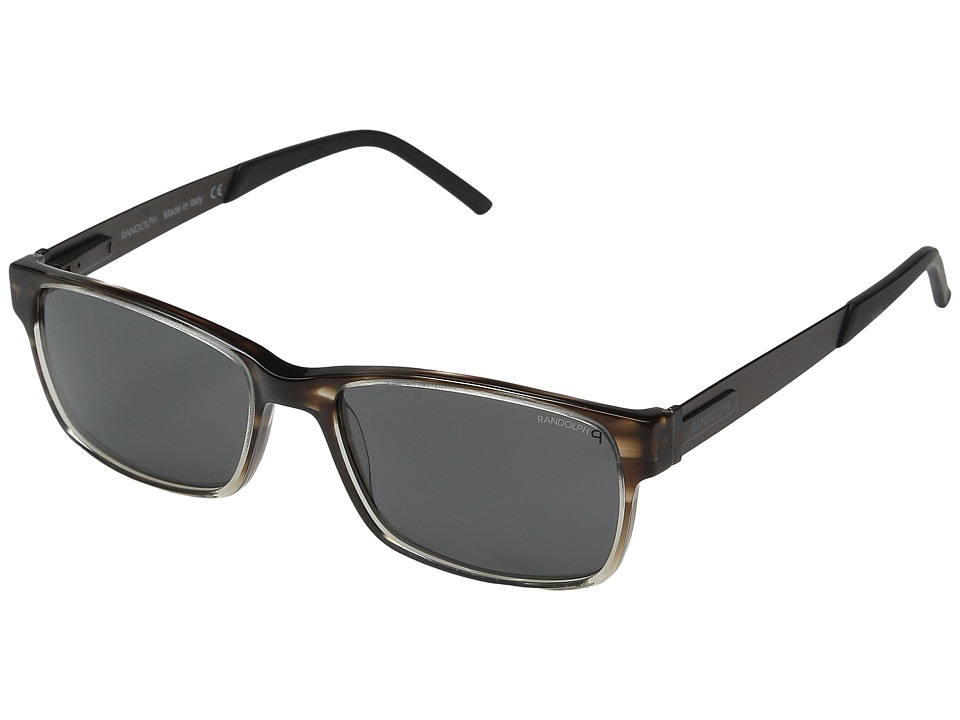 Randolph - Newport 53mm Polarized (Brown Tortoise/Clear Gradient Acetate/Gray Polarized PC) Fashion Sunglasses