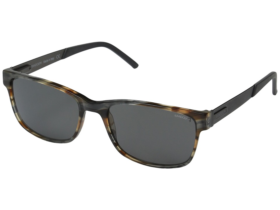 Randolph - Charleston 56mm Polarized (Brown/Gray/Black Tortoise/Gray Polarized PC) Fashion Sunglasses