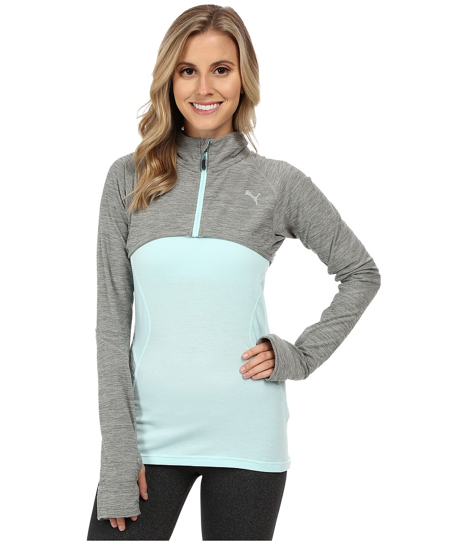 PUMA - Hybrid Top (Medium Gray Heather) Women