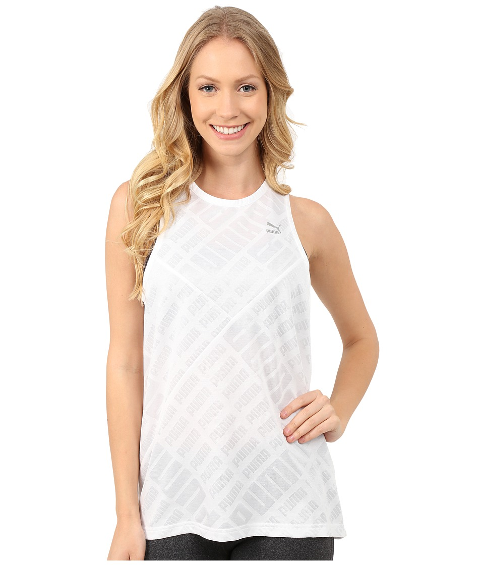 PUMA - Jacquard Tank Top (White) Women
