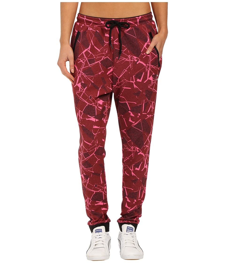 PUMA - Printed Pants (Cabernet) Women's Casual Pants