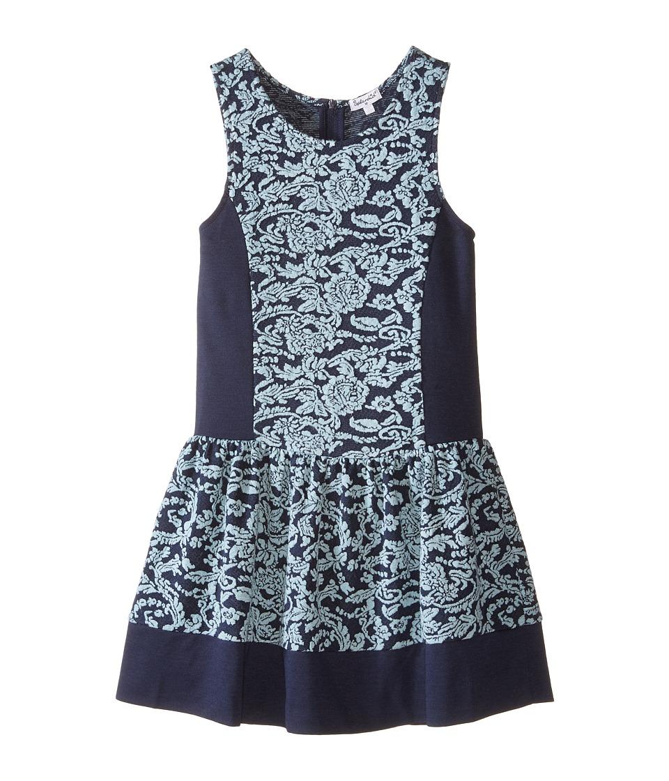 Splendid Littles - Jacquard Sleeveless Dress (Big Kids) (Navy) Girl's Dress