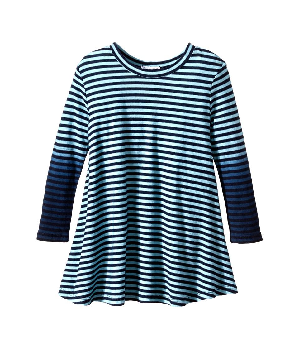 Splendid Littles - Icy Stripe Dress (Toddler) (Aqua) Girl's Dress