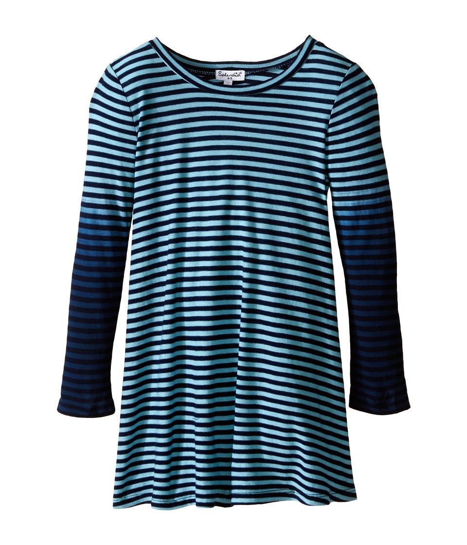 Splendid Littles - Icy Stripe Dress (Little Kids) (Aqua) Girl's Dress