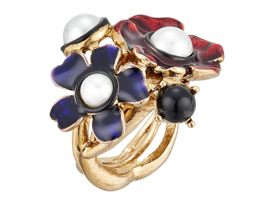 Oscar de la Renta - Flower Pearl Ring (Multi) Ring