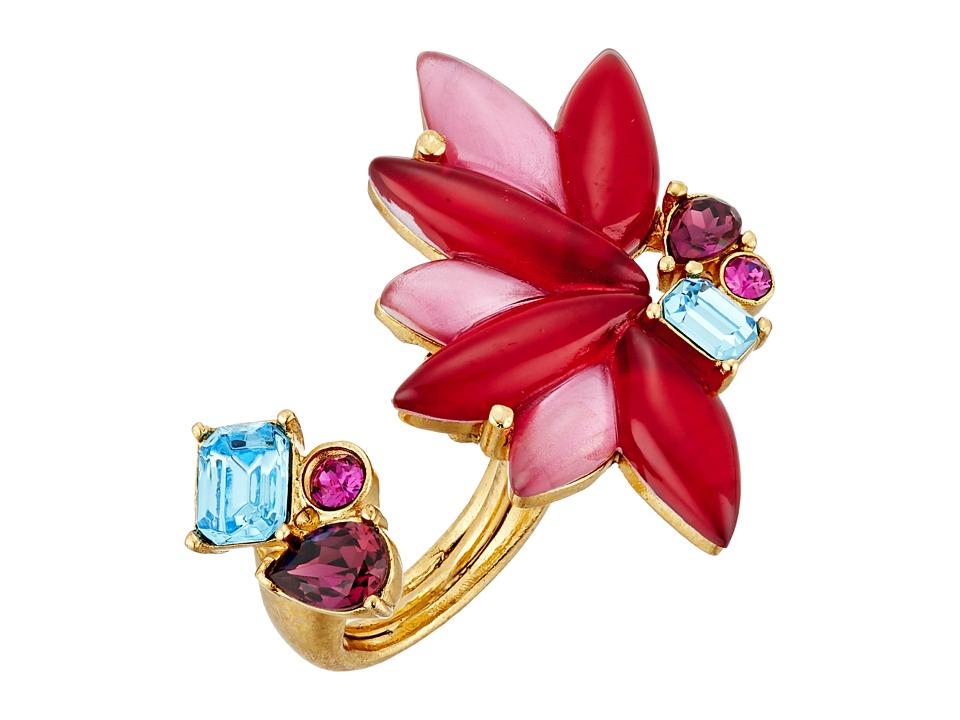 Oscar de la Renta - Navette Petal Ring (Ruby) Ring