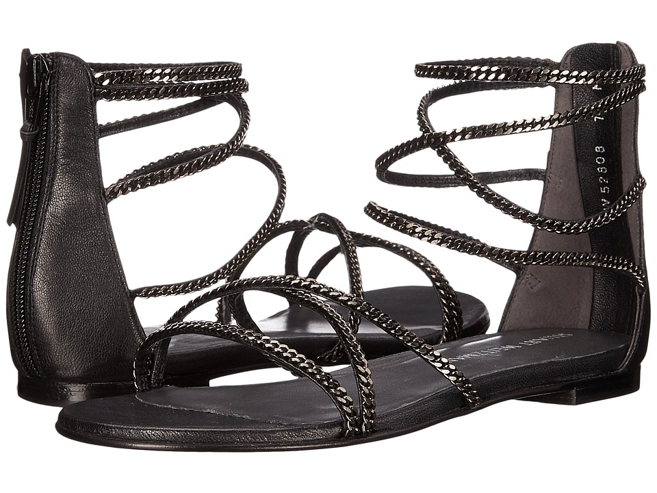 Stuart Weitzman - Chaindown (Noir Washed Nappa) Women's Shoes