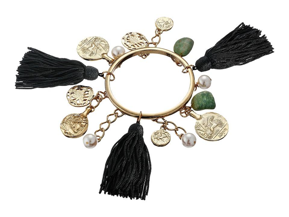 Oscar de la Renta - Tassel Charm Bracelet (Black) Bracelet