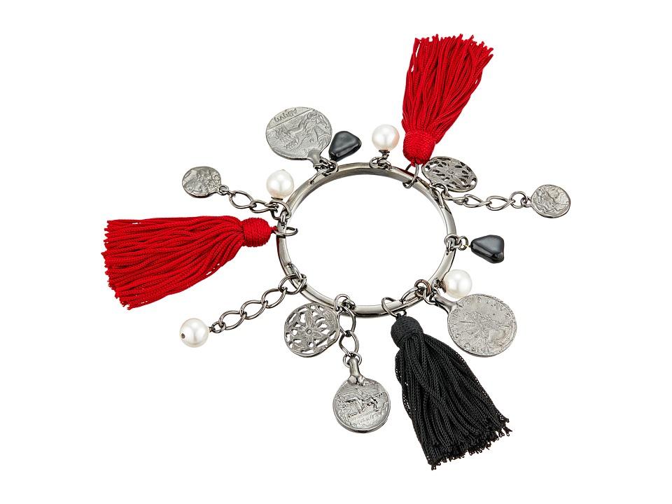 Oscar de la Renta - Tassel Charm Bracelet (Ruby) Bracelet