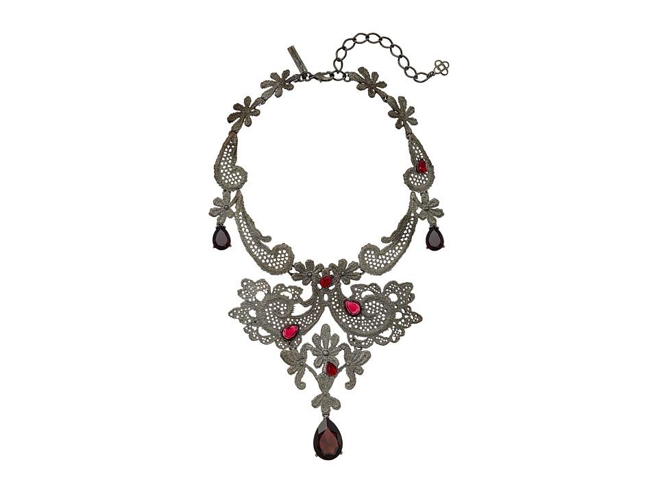 Oscar de la Renta - Lace Necklace (Ruby) Necklace