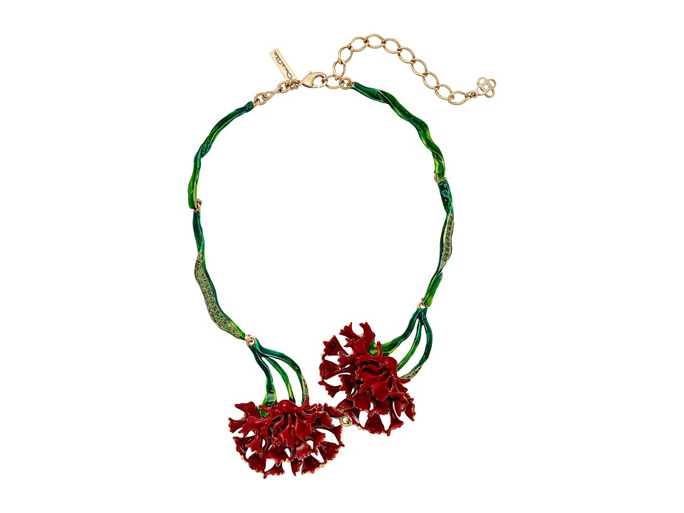 Oscar de la Renta - Carnation Necklace (Ruby) Necklace