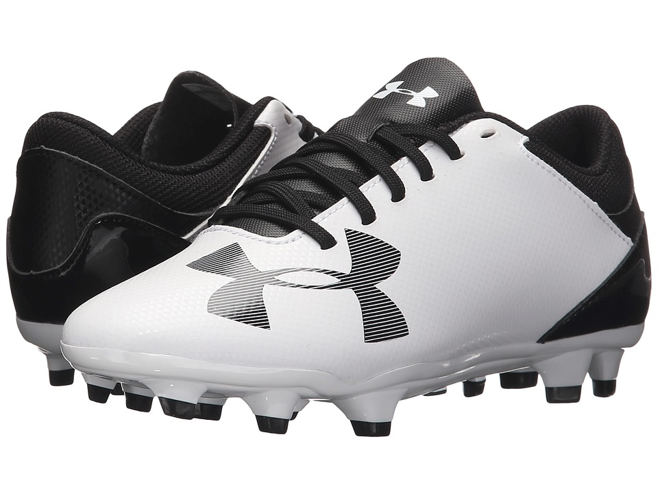 Under Armour Kids - UA Spotlight DL FG Soccer (Little Kid/Big Kid) (White/Black) Boys Shoes