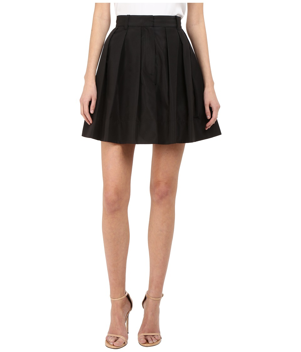Vera Wang - Pleated Voluminous Skirt and Trousers Back (Black) Women's Skirt