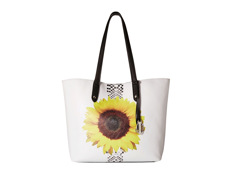 CARLOS by Carlos Santana - Kasandra Tote (White Sunflower) Tote Handbags