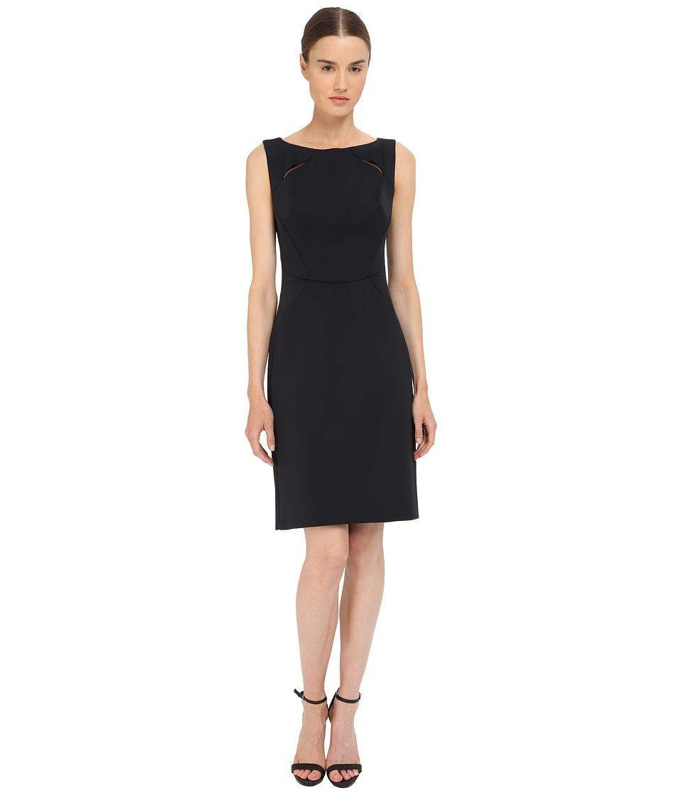 Zac Posen Bonded Crepe Sleeveless Dress (Licorice) Women