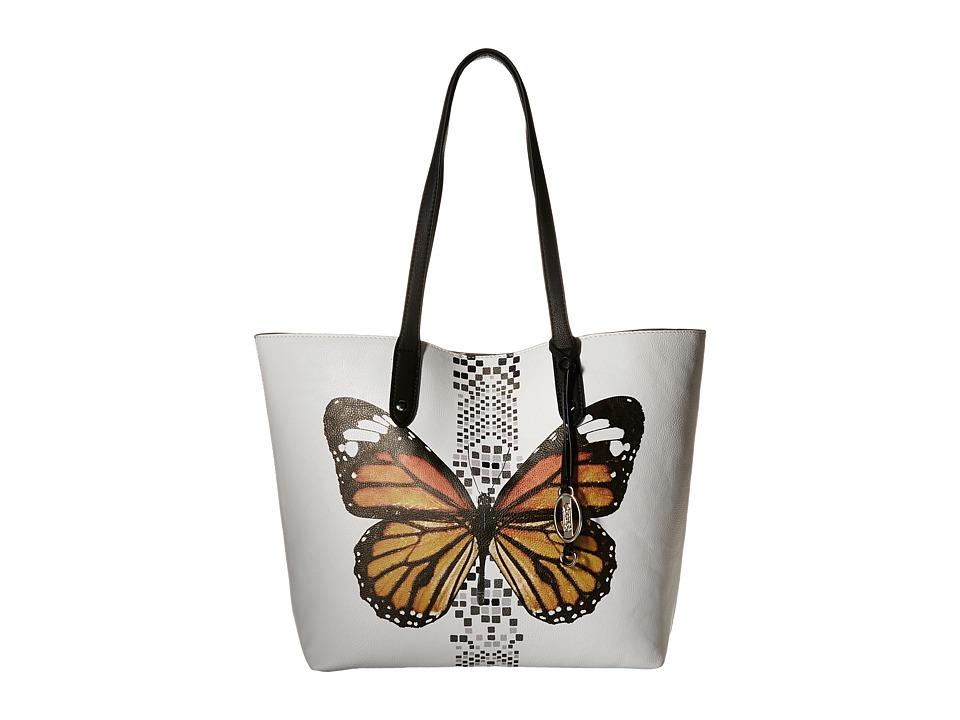 CARLOS by Carlos Santana - Kasandra Tote (White Butterfly) Tote Handbags