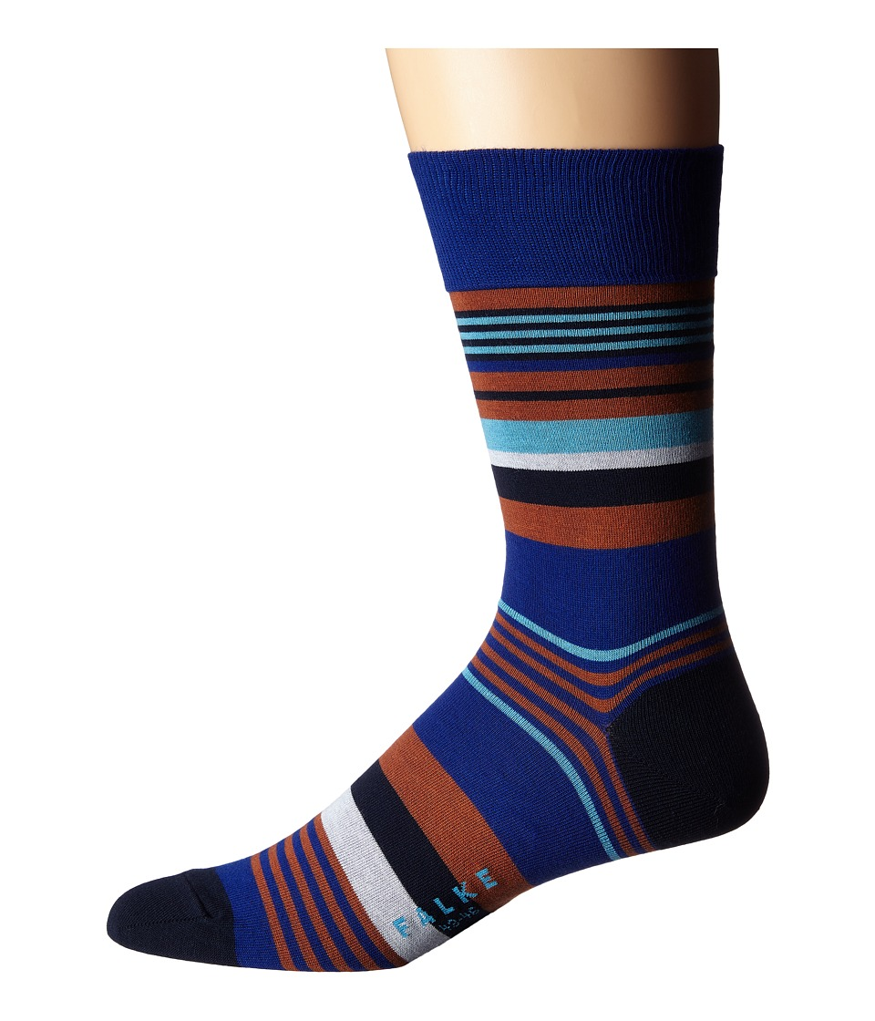 Falke - Multi Stripe Sock (Colbalt) Men's Crew Cut Socks Shoes