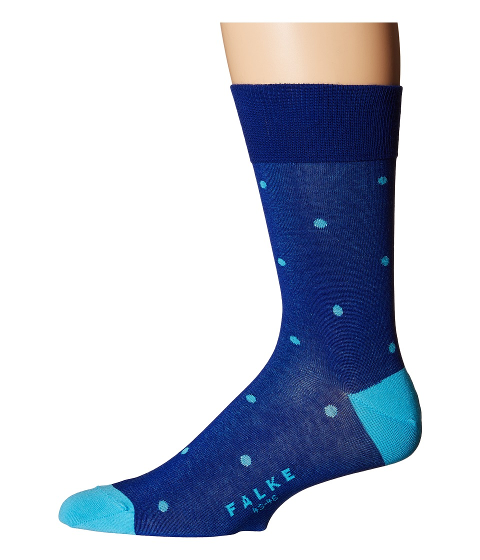 Falke - Dot Sock (Colbalt) Men's Crew Cut Socks Shoes