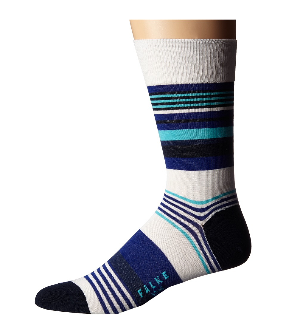 Falke - Multi Stripe Sock (Off-White) Men's Crew Cut Socks Shoes