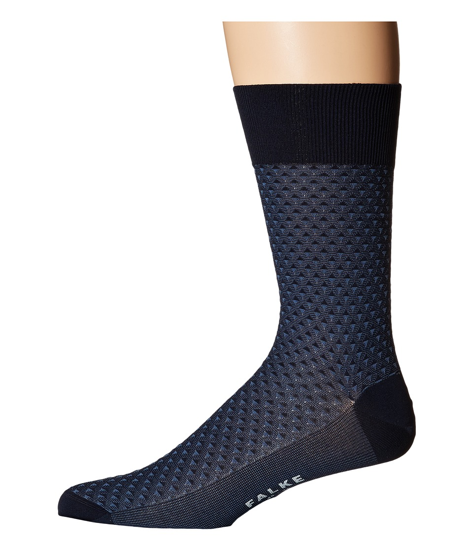 Falke - Triangle Tie Sock (Marine) Men's Crew Cut Socks Shoes