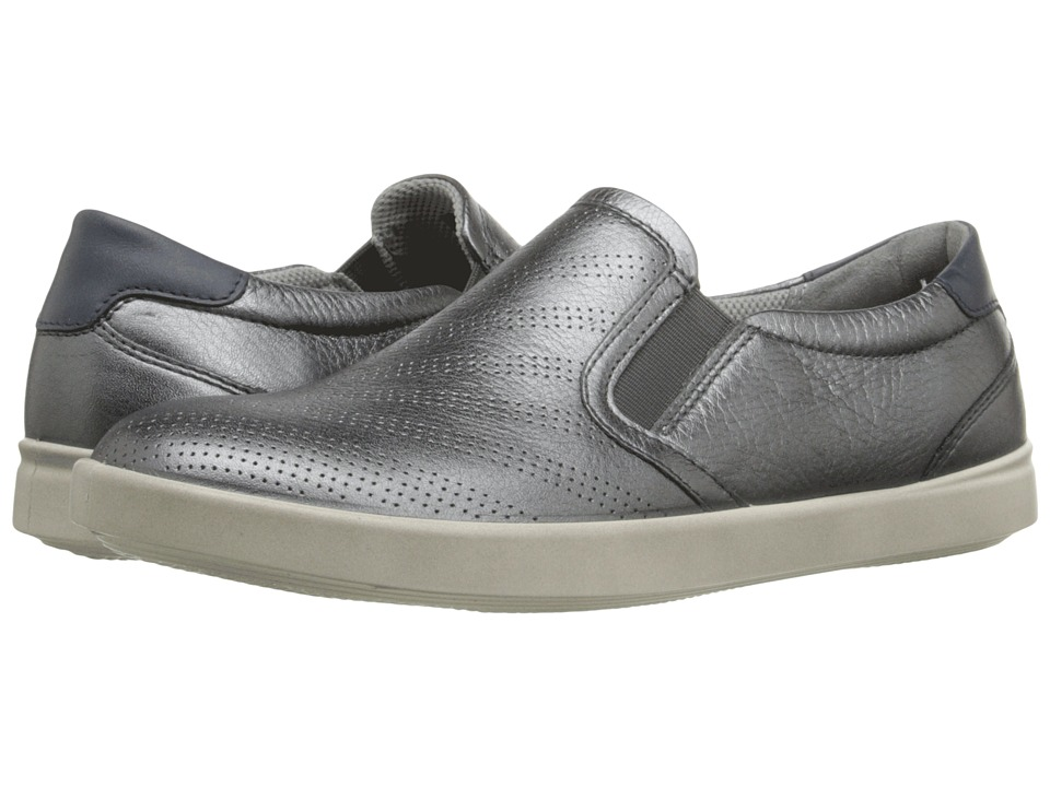 ECCO - Aimee Sport Slip-On (Dark Shadow Metallic/Marine) Women's Slip on Shoes