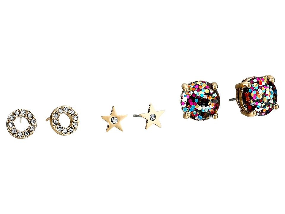 Kate Spade New York - Glitter 3 Piece Stud Set Earrings (Multi) Earring