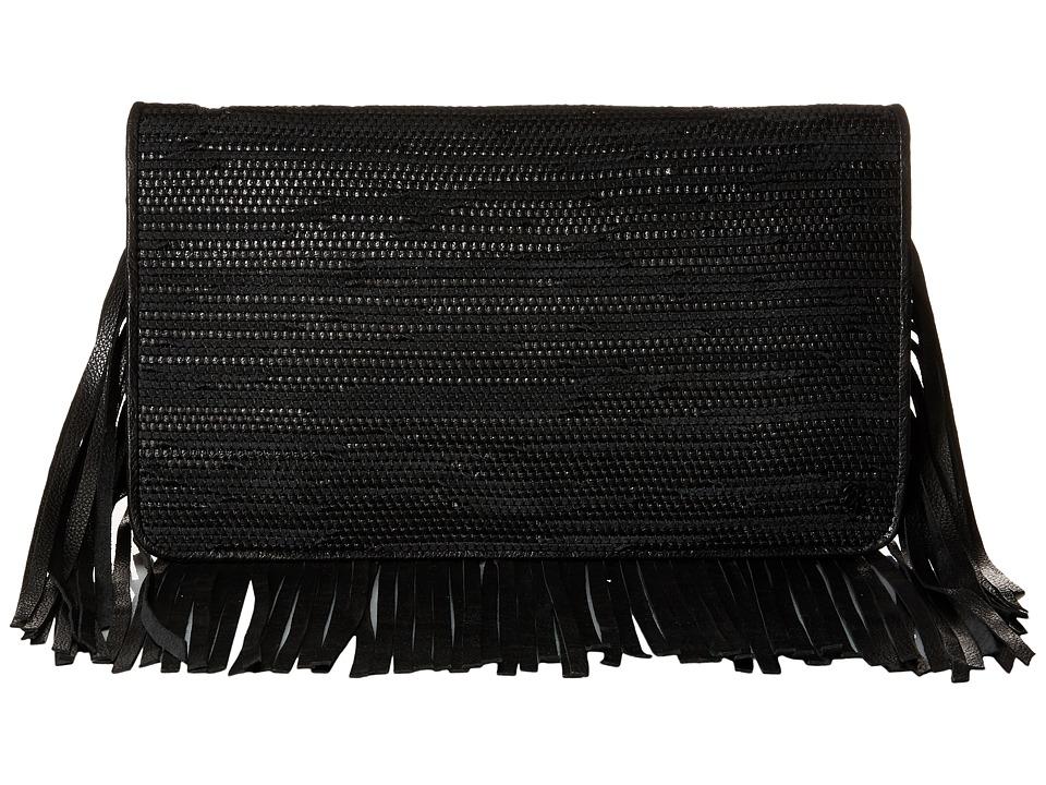 Elliott Lucca - Bali '89 Fringe Clutch (Black Melaya) Clutch Handbags