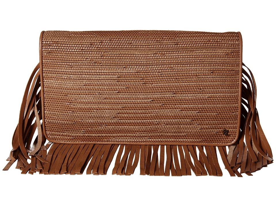 Elliott Lucca - Bali '89 Fringe Clutch (Almond Melaya) Clutch Handbags