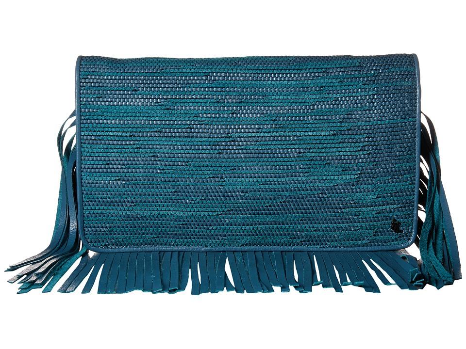 Elliott Lucca - Bali '89 Fringe Clutch (Azul Melaya) Clutch Handbags
