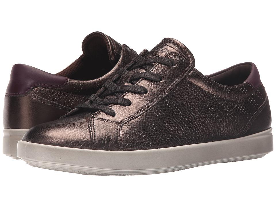 ECCO - Aimee Sport Tie (Licorice Metallic/Mauve) Women's Lace up casual Shoes