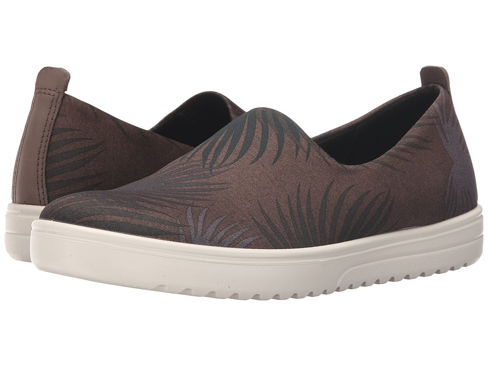 ECCO - Fara Slip-On (Tarmac Palm Print/Deep Forest) Women's Slip on Shoes