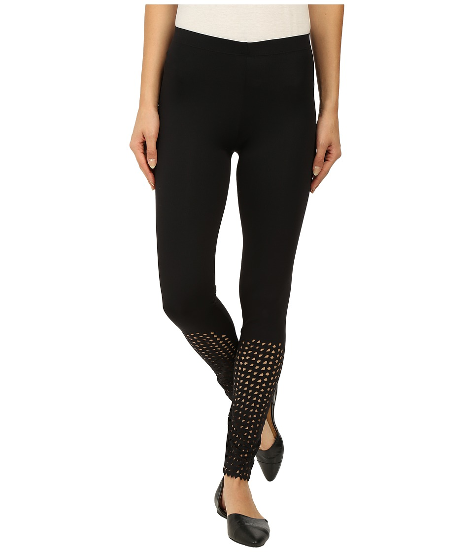 Falke - Fish Scale Leggings (Black) Women's Casual Pants