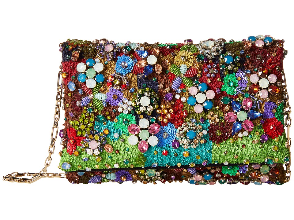 Oscar de la Renta - Petite Evening (Multi Embroidered Satin) Handbags