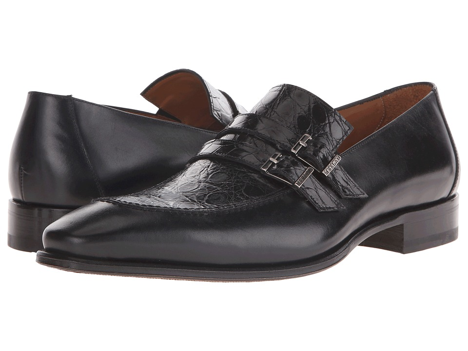 Mezlan - Beringer (Black) Men's Slip on Shoes