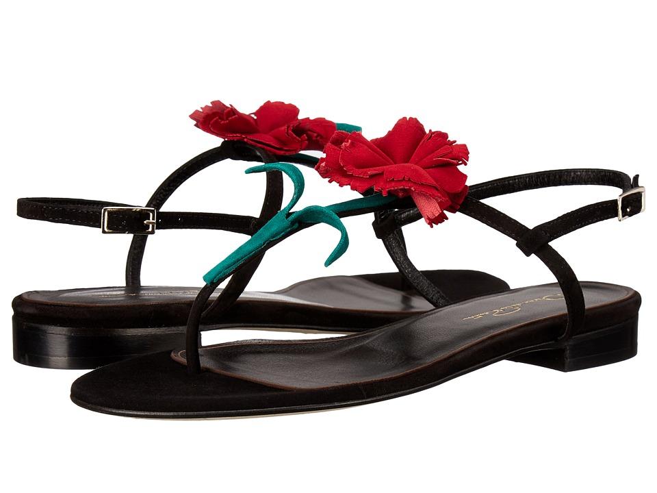 Oscar de la Renta Ostra Black Suede Womens Shoes