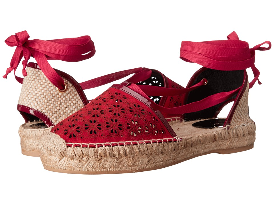 Oscar de la Renta - Adriana (Ruby Lasercut Suede) Women's Shoes